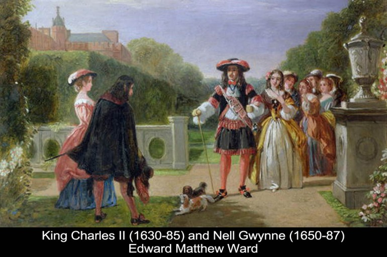 Edward Matthew Ward - King Charles II and Nell Gwynne